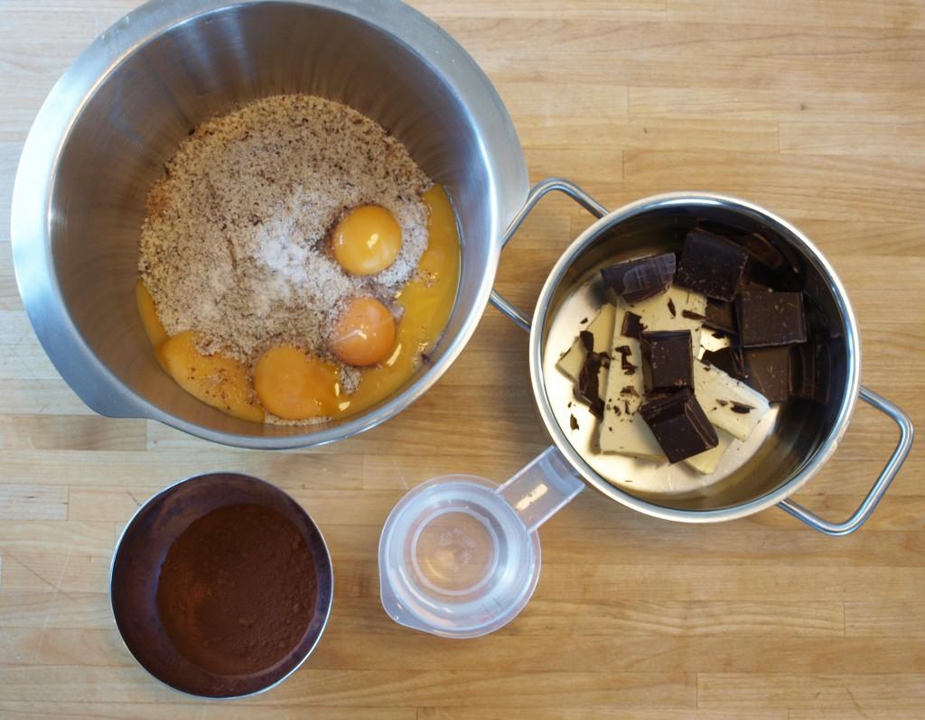 Ingrediënten brownie