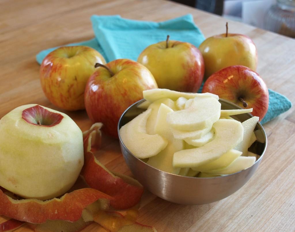 Ingrediënten gedroogde appels