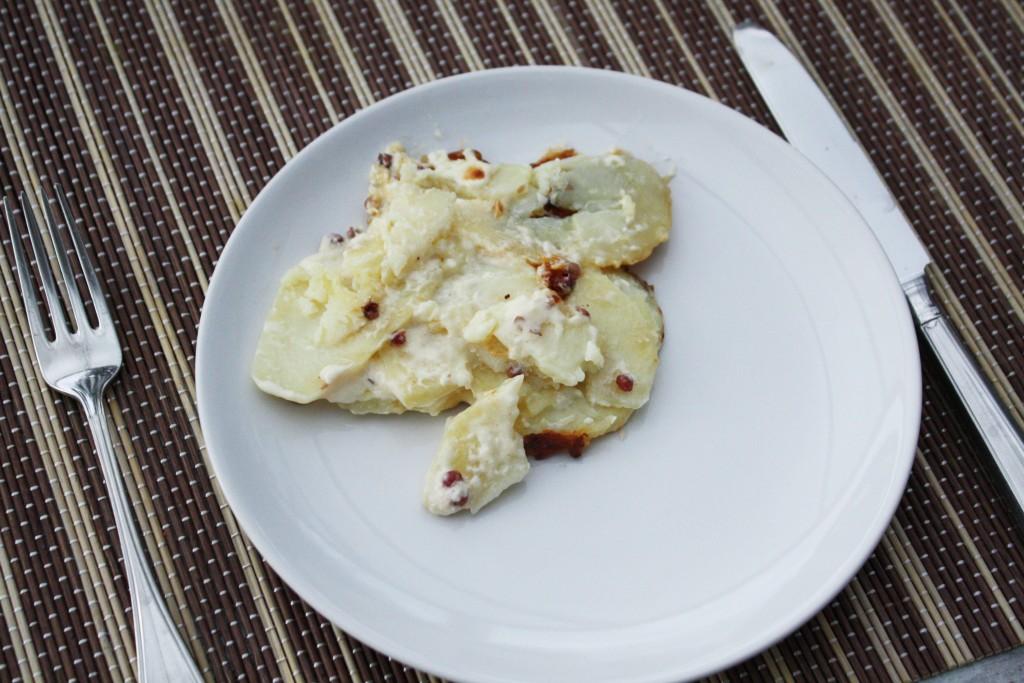 aardappel gratin uit oven